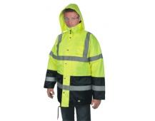Reflexná bunda OXFORD zimné, žltá