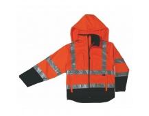 Reflexná bunda DERBY, softshellová oranžová