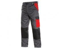 Pracovní kalhoty pas PHOENIX CEFEUS, šedo-červené