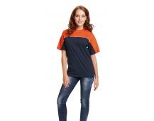 Tričko EMERTON čierno / oranžové