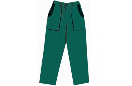 Pracovné nohavice do pása LUX JOSEF zelené