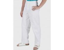 Biele nohavice pánske, pevný pás