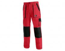 Pracovné nohavice do pása LUX JOSEF červeno-čierne