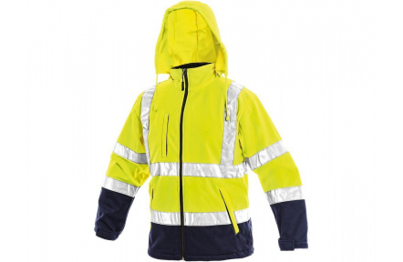 Reflexná bunda DERBY, softshellová žltá