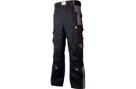 Pracovné nohavice do pása VISION čierno-šedé