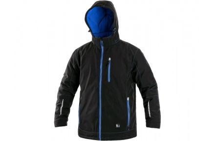 Zimní softshellová bunda KINGSTON, pánská, černo-modrá