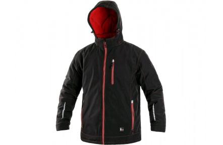Zimní softshellová bunda KINGSTON, pánská, černo-červená