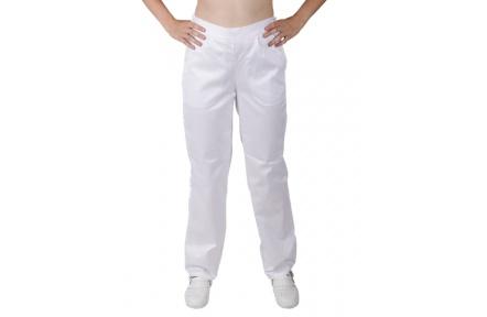 Biele nohavice dámske, do gumy