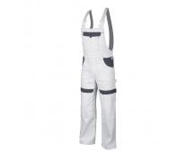 Pracovné nohavice s trakmi COOL TREND bielo-šedé