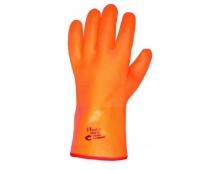 Pracovné rukavice FLAMINGO zimné, máčané v PVC