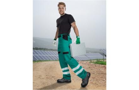 Pracovní kalhoty COOL TREND reflex - ZELENÉ