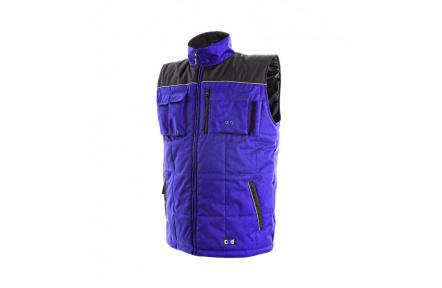 Pracovná vesta zateplená SEATLE modro-čierna