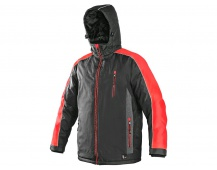 Pracovní zimní bunda BRIGHTON šedo/červená