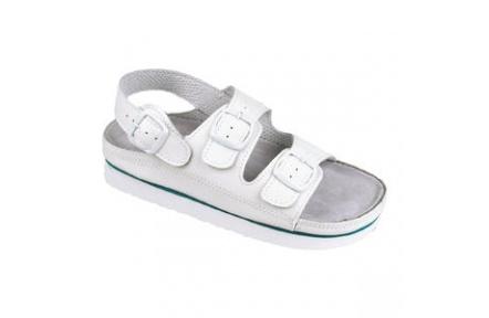 Pánske sandále biele kožené Cork Megi