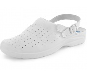Dámske sandále biele s plnou špicou MISA