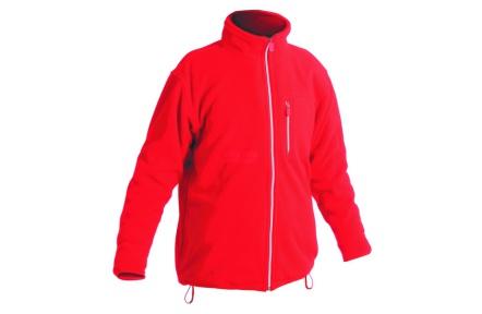 Fleecová mikina karel červená