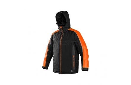 Pracovní zimní bunda BRIGHTON černo/oranžová