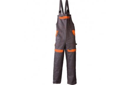 Pracovné nohavice s trakmi COOL TREND šedo-oranžové
