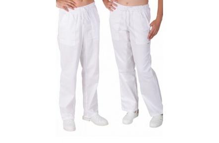 Biele nohavice pánske, do gumy