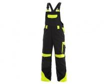 Pracovné nohavice s trakmi SIRIUS Brighton čierno / žlté