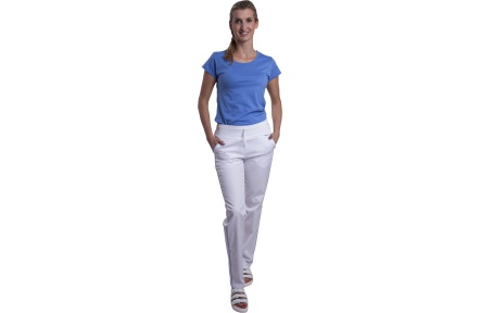 Biele nohavice dámske VIOLA, biele