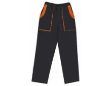Pracovné nohavice do pása LUX JOSEF čierno-oranžové