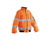 Reflexná bunda LEEDS 2v1 oranžová, zimné