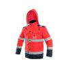 Reflexní bunda LUTON 2v1 červeno-modrá, zimní