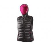 Dámska zimná vesta OMAK čierno-ružová