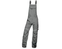 Pracovní kalhoty s laclem URBAN+ světle šedé