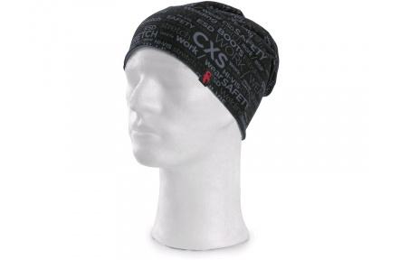 Čepice zimní DARREN, černá s potiskem CXS