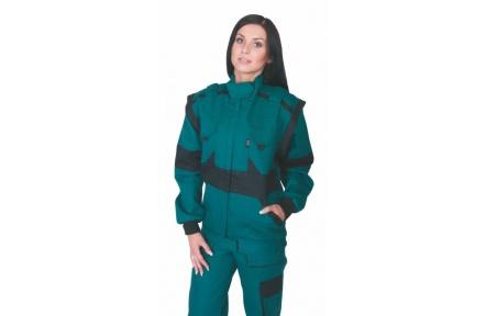 Pracovná bunda dámska LUX DIANA zelená