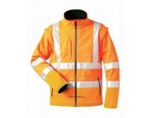 Reflexná bunda Seaton, softshellová oranžová