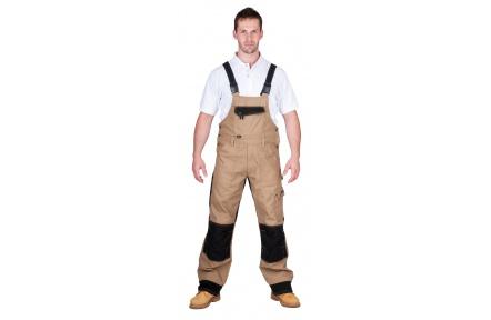 Pracovní kalhoty NARELLAN s laclem HNĚDÉ