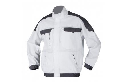 Pracovná blúza COOL TREND bielo-šedá