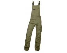 Pracovní kalhoty s laclem URBAN+ khaki