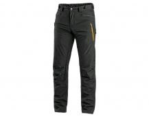 Kalhoty CXS AKRON, softshell, černé s HV doplňky