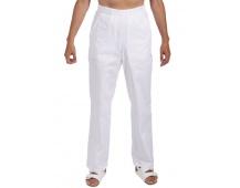 Biele nohavice dámske, pevný pás