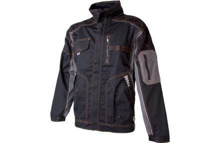Pracovná bunda VISION čierno-šedá