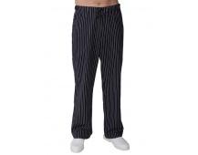 Kuchárske nohavice DÁMSKE, čierne s bielym prúžkom