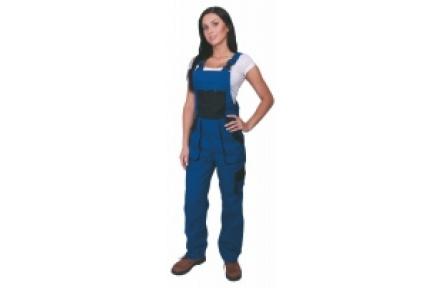 Pracovné nohavice dámske s trakmi LUX SABINA modré