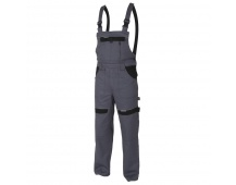 Pracovné nohavice s trakmi COOL TREND šedo-čierne