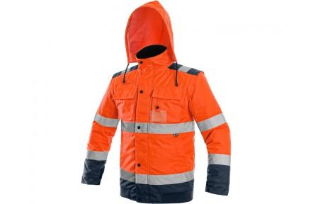 Reflexní bunda LUTON 2v1 oranžová, zimní
