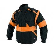 Pracovná bunda LUX EDA čierno-oranžová