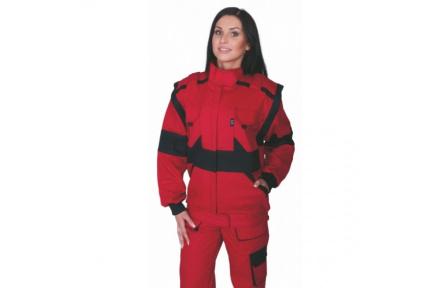 Pracovná bunda dámska LUX DIANA červená
