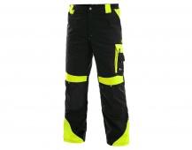 Pracovní kalhoty SIRIUS Brighton ZIMNÍ černo/žluté