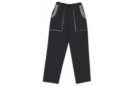 Pracovné nohavice do pása LUX JOSEF čierno-šedé