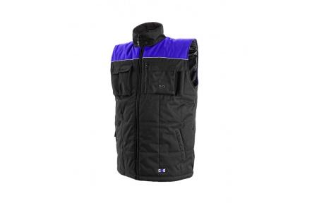 Pracovná vesta zateplená SEATLE čierno-modrá