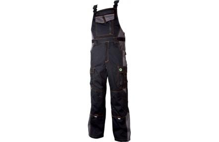 Pracovné nohavice s trakmi VISION čierno-šedé