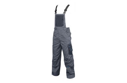 Pracovní kalhoty 4TECH s laclem šedé 170cm